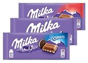 Milka čokoláda 3 druhy 100 g