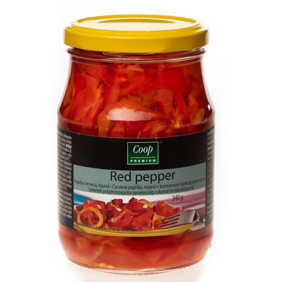 Červená paprika rezaná 340g
