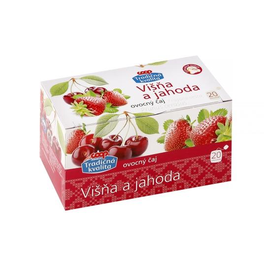 Čaj ovocný višňa a jahoda 30g