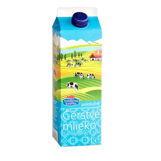 Mlieko čerstvé 1,5% 1l