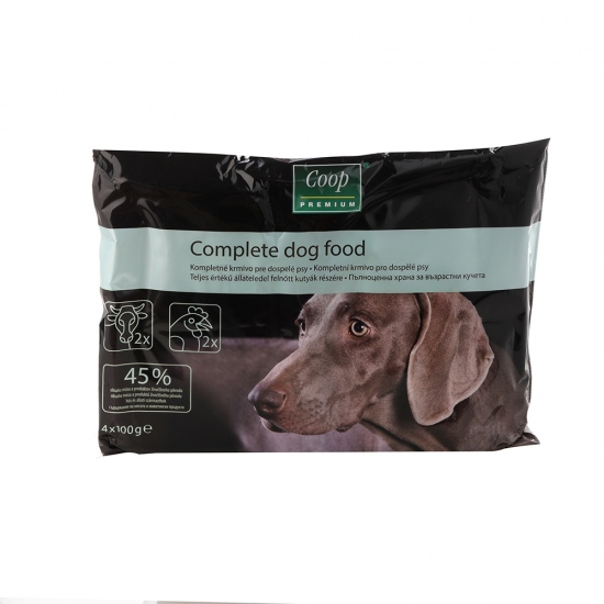 Krmivo kompletné taštičky pes 4x100g