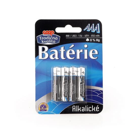 Batérie AAA/LR03 alkalické 4ks