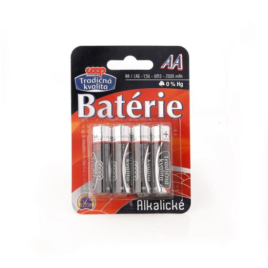Batérie AA/LR6 1,5V alkalické 4ks