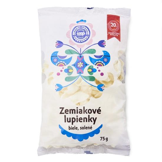 Zemiakové lupienky biele solené 75 g