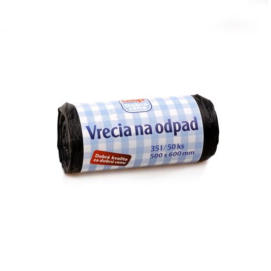 Vrecia HDPE na odpad 35l 50ks