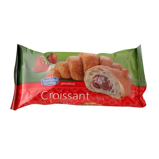 Croissant pečený s jahodovou plnkou 60g