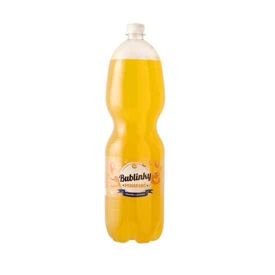 Bublinky s príchuťou pomaranč 2L