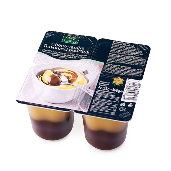 Choco vanilla pudding